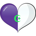 download Algeria Heart Flag clipart image with 135 hue color