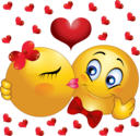 Lovers Kissing Smiley Emoticon