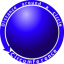 download Circumference Of A Circle clipart image with 45 hue color