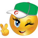 Algerian Girl Smiley Emoticon