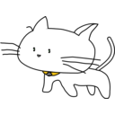 download White Cat clipart image with 45 hue color