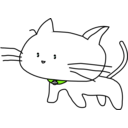 download White Cat clipart image with 90 hue color