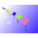 download Row Of Kites clipart image with 45 hue color