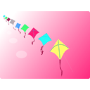 download Row Of Kites clipart image with 135 hue color