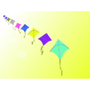 download Row Of Kites clipart image with 225 hue color