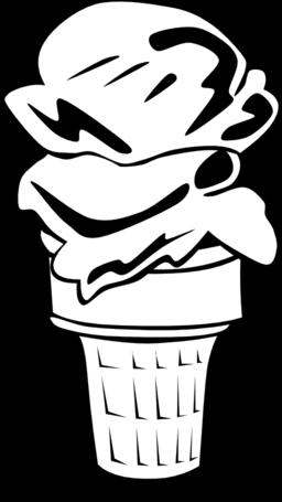 Fast Food Desserts Ice Cream Cone Double Clipart