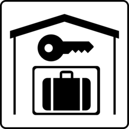 Color Wheel Of Hotel Icon Has Secure Storage In Room Clipart