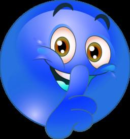 Color Wheel of Shhh Smiley Emoticon clipart